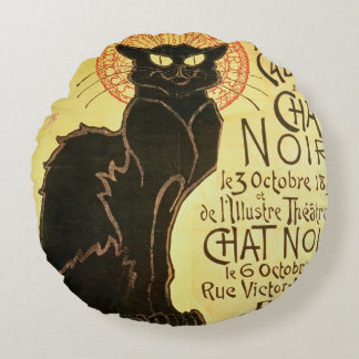 Reopening of the Chat Noir Cabaret, 1896 (colour l Round Pillow