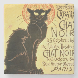 Reopening of the Chat Noir Cabaret, 1896 (colour l Stone Beverage Coaster