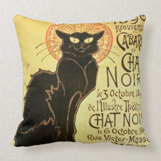 Reopening of the Chat Noir Cabaret, 1896 (colour l Throw Pillows