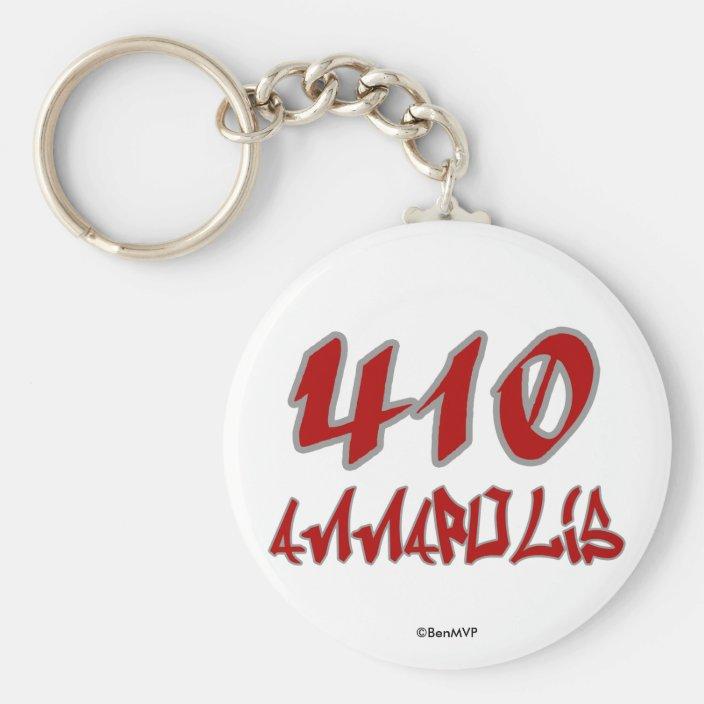 Rep Annapolis (410) Keychain