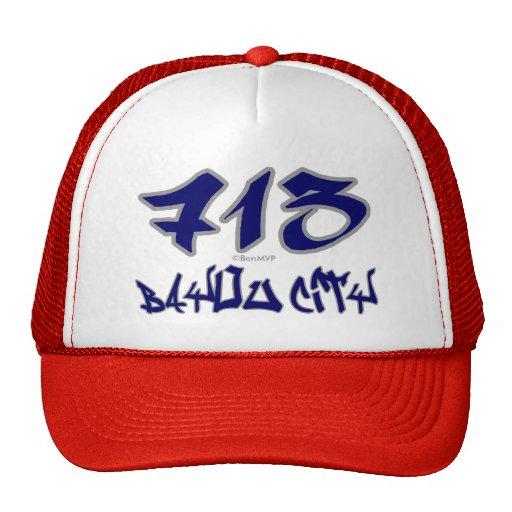 Rep Bayou City (713) Trucker Hat