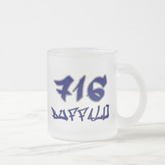 Rep Buffalo (716) 10 Oz Frosted Glass Coffee Mug