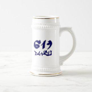 Rep Daygo (619) Beer Stein