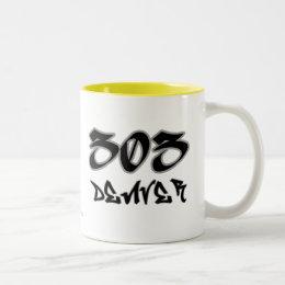 Rep Denver (303) Two-Tone Coffee Mug
