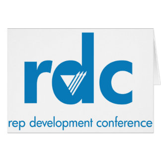 Rep Development Conference note card