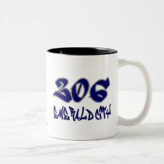 Rep Emerald City (206) Two-Tone Coffee Mug
