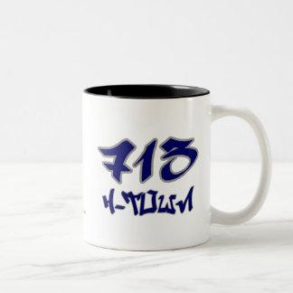 Rep H-Town (713) Two-Tone Coffee Mug