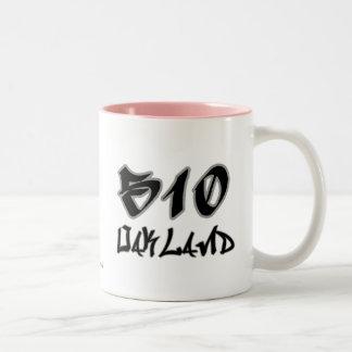 Rep Oakland (510) Two-Tone Coffee Mug