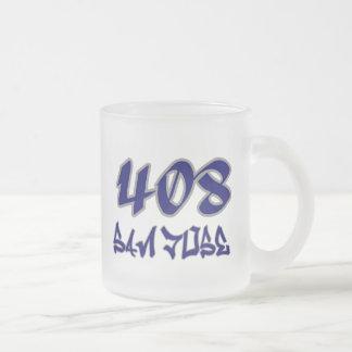 Rep San Jose (408) Frosted Glass Coffee Mug