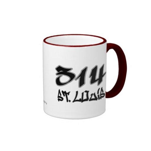 Rep St. Louis (314) Ringer Coffee Mug