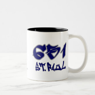Rep St. Paul (651) Two-Tone Coffee Mug