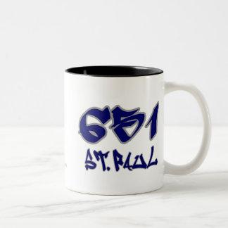 Rep St. Paul (651) Two-Tone Coffee Mug