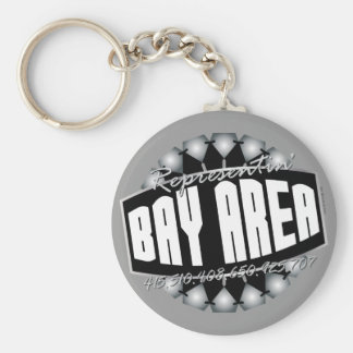 Rep The Bay Basic Round Button Keychain