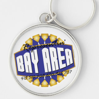 Rep The Bay Silver-Colored Round Keychain
