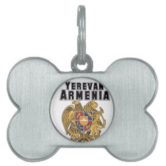 Rep Ya Hood Custom Armenia Pet Name Tags