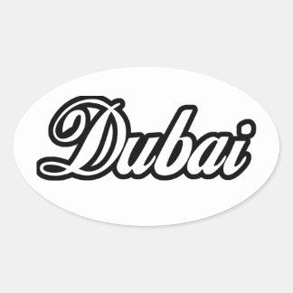 Rep Ya Hood Custom Dubai Oval Sticker