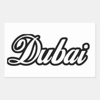 Rep Ya Hood Custom Dubai Rectangular Sticker