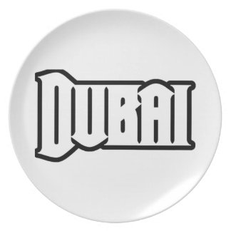 Rep Ya Hood  Custom Dubai, UAE Dinner Plates