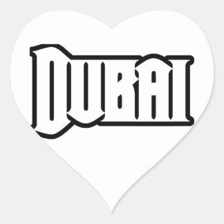 Rep Ya Hood  Custom Dubai, UAE Heart Sticker
