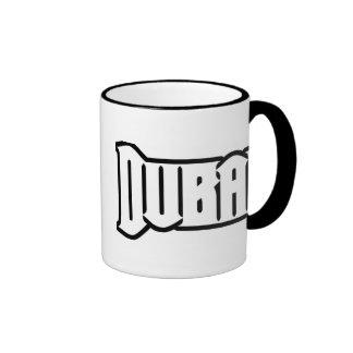 Rep Ya Hood  Custom Dubai, UAE Ringer Coffee Mug