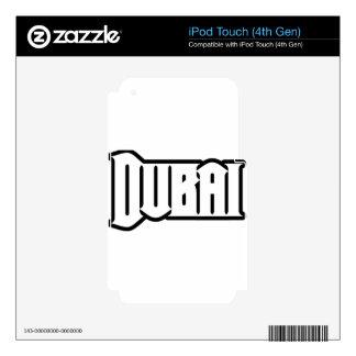Rep Ya Hood  Custom Dubai, UAE Skin For iPod Touch 4G