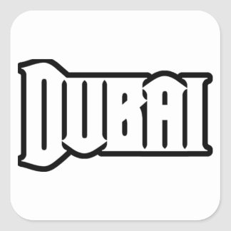 Rep Ya Hood  Custom Dubai, UAE Square Sticker