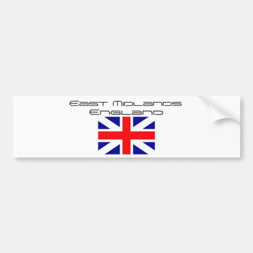Rep Ya Hood Custom (England) East Midlands Car Bumper Sticker