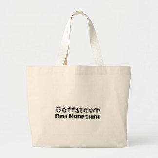 Rep Ya Hood Custom Goffstown, New Hampsire Jumbo Tote Bag