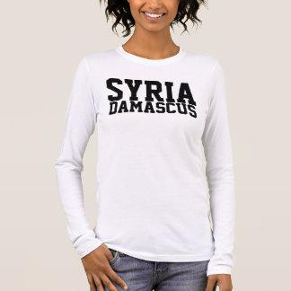 Rep Ya Hood Custom Syria, Damascus, Long Sleeve T-Shirt