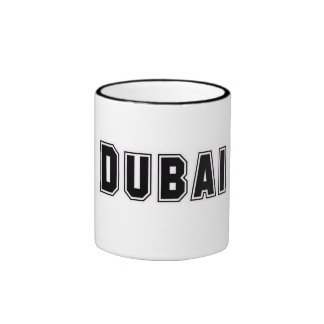 Rep Ya Hood Custom United Arab Emirates, Dubai Ringer Coffee Mug