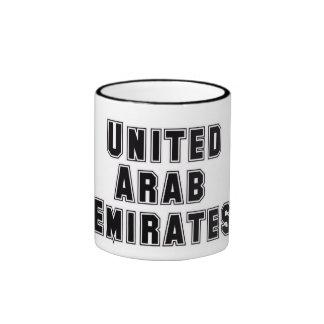 Rep Ya Hood  Custom United Arab Emirates Ringer Coffee Mug
