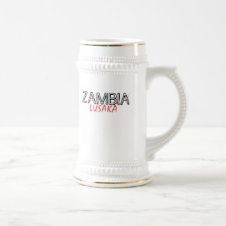 Rep Ya Hood Zambia Custom 18 Oz Beer Stein