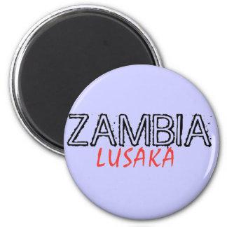 Rep Ya Hood Zambia Custom 2 Inch Round Magnet
