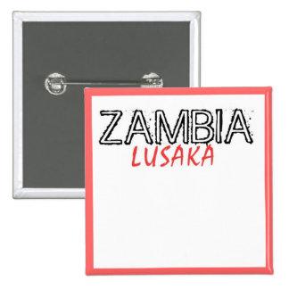 Rep Ya Hood Zambia Custom 2 Inch Square Button