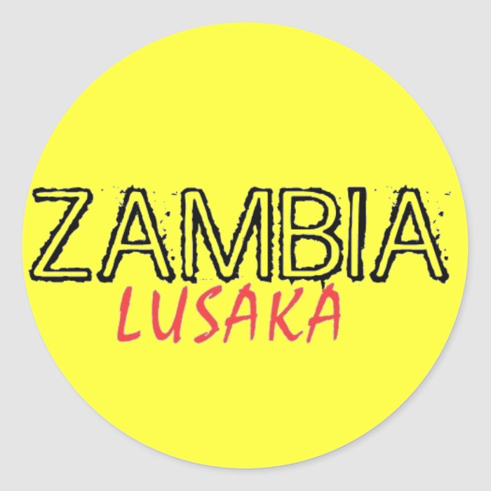 Rep Ya Hood Zambia Custom Classic Round Sticker
