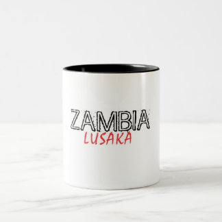Rep Ya Hood Zambia Custom Two-Tone Coffee Mug