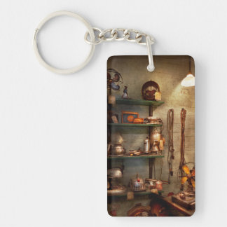 Repair - In the corner of a repair shop Double-Sided Rectangular Acrylic Keychain