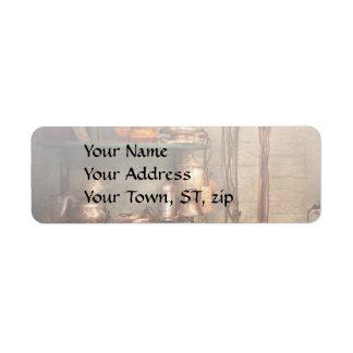 Repair - In the corner of a repair shop Return Address Label