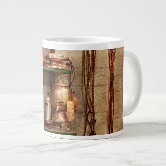 Repair - In the corner of a repair shop Large Coffee Mug