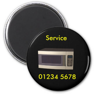 Repair - microwave service tag 2 inch round magnet
