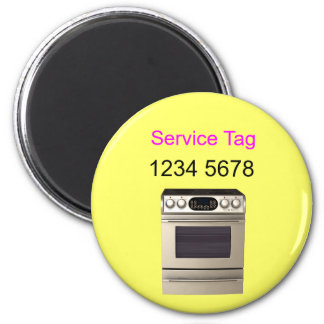 repair - oven. Service Tag 2 Inch Round Magnet