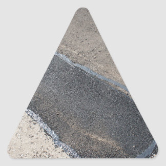 Repair pavement and laying new asphalt triangle sticker
