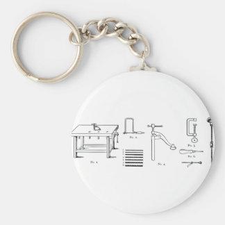 Repair Schematics Design Keychain
