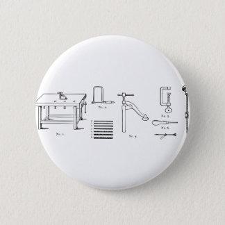 Repair Schematics Design Pinback Button