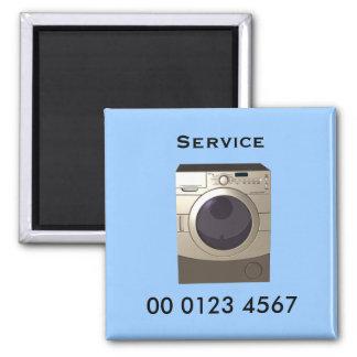 Repair - washing machine service tag 2 inch square magnet