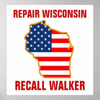 Repair Wisconsin, Recall Walker Poster