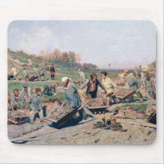 Repair Works on the Railway Line, 1874 Mouse Pad