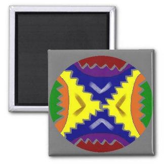 Repairing Mandala 2 Inch Square Magnet