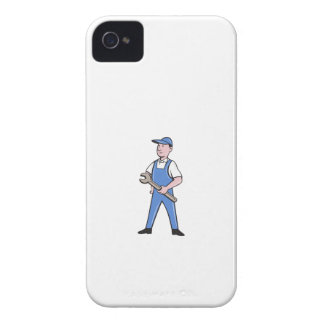 Repairman Holding Spanner Cartoon iPhone 4 Case