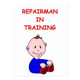 repairman postcard